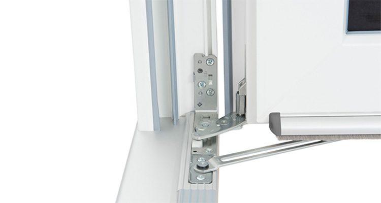 Drzwi balkonowe odporne na zacinający deszcz