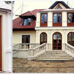 Okna drewniane dom
